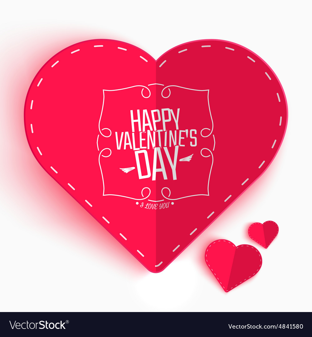 Happy valentines day greeting or invitation card vector