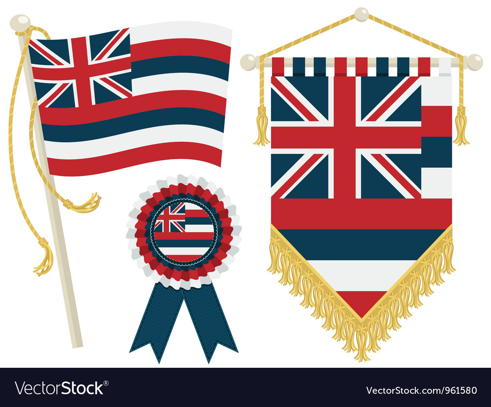 Hawaii flags vector | Price: 1 Credit (USD $1)