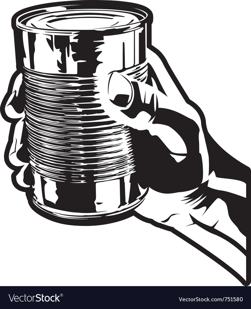 Holding a tin can vector | Price: 1 Credit (USD $1)
