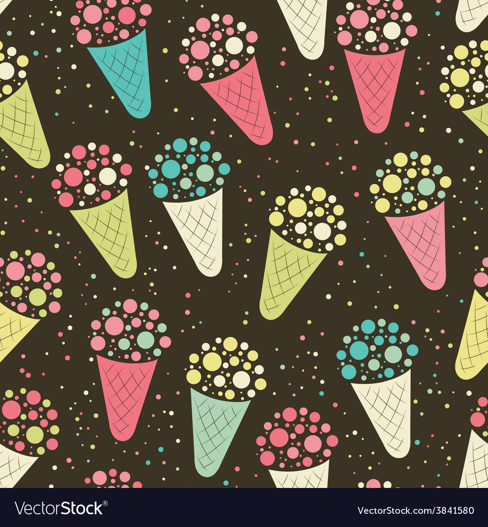 Ice cream seamless pattern vector | Price: 1 Credit (USD $1)