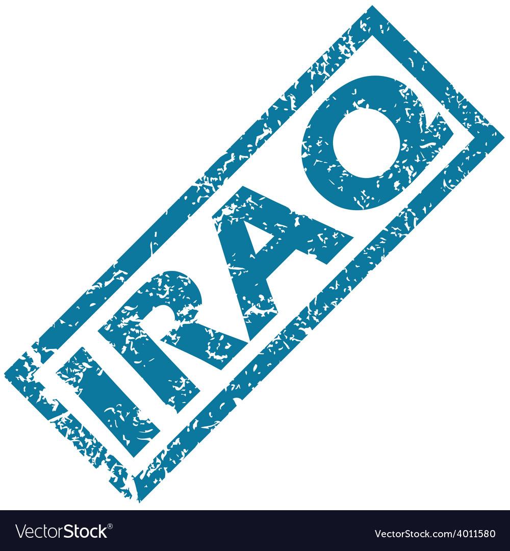 Iraq rubber stamp vector | Price: 1 Credit (USD $1)