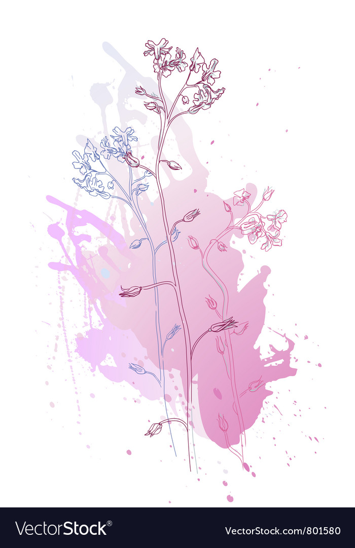 Of flowers vector | Price: 1 Credit (USD $1)