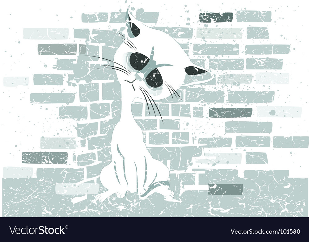 Rough cat graphic vector | Price: 1 Credit (USD $1)