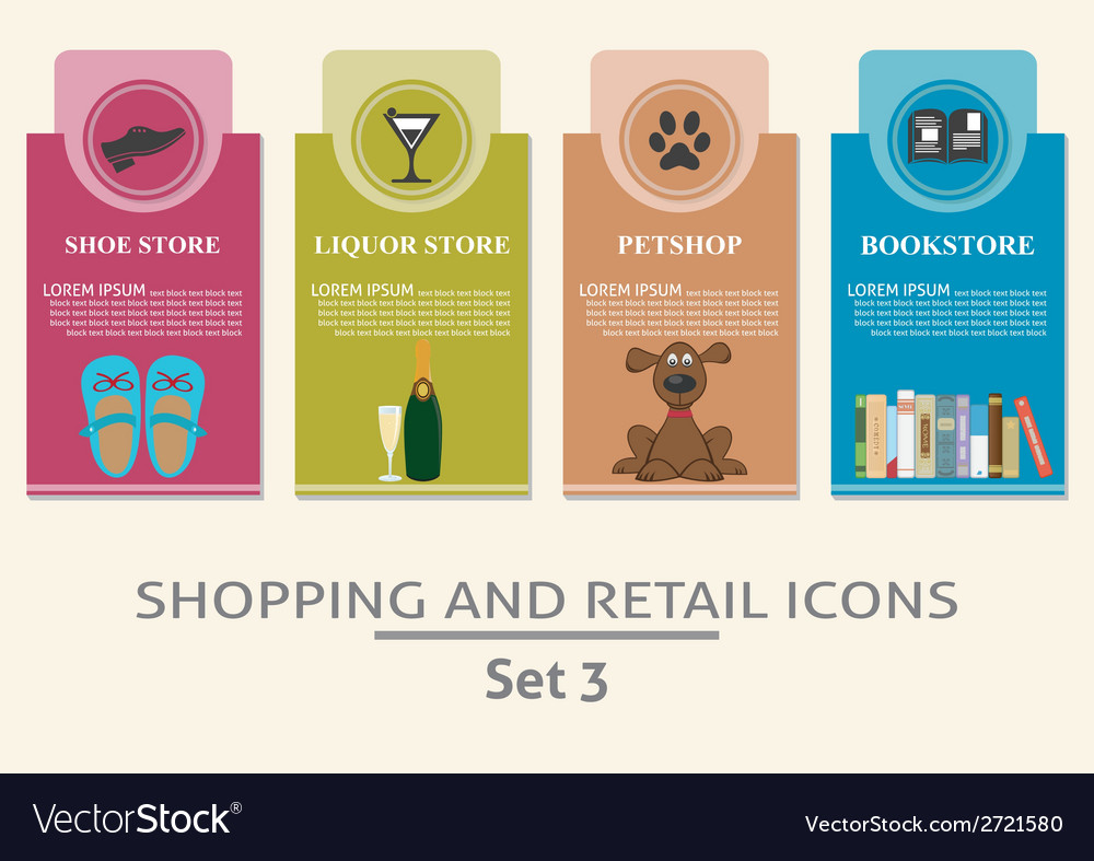 Shopping and retail labels vector   Price: 1 Credit (USD $1)