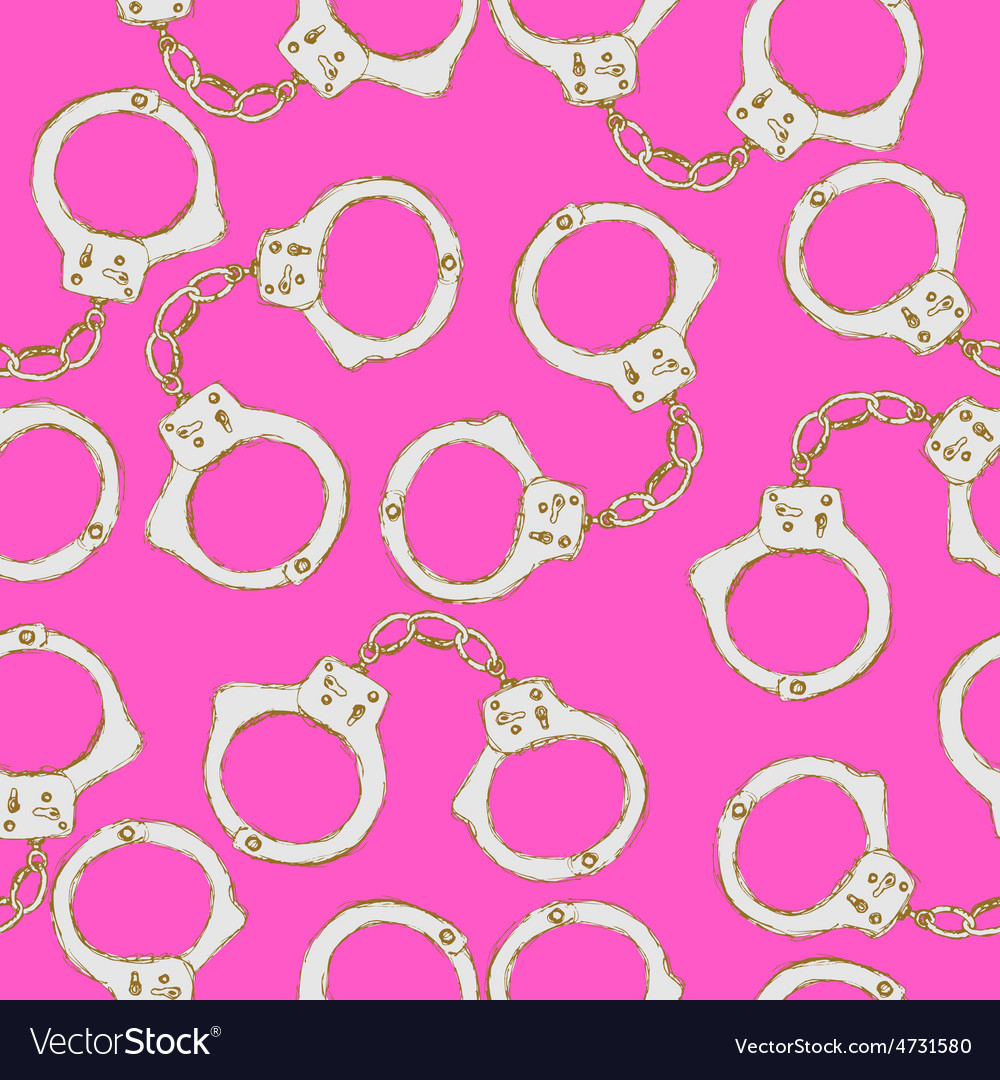 Sketch steel handcuffs in vintage style vector | Price: 1 Credit (USD $1)