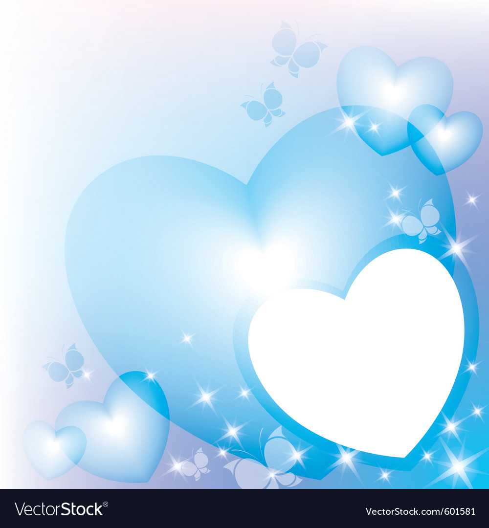 Blue hearts vector | Price: 1 Credit (USD $1)