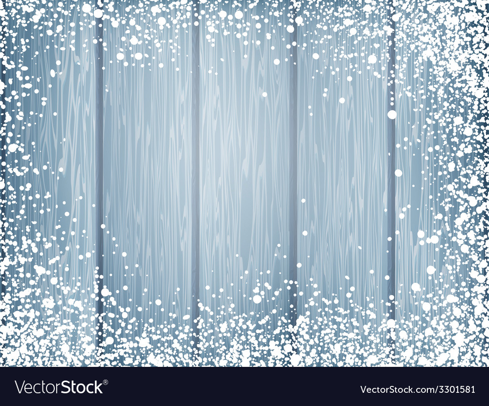 Blue wood texture with white snow eps 10 vector | Price: 1 Credit (USD $1)