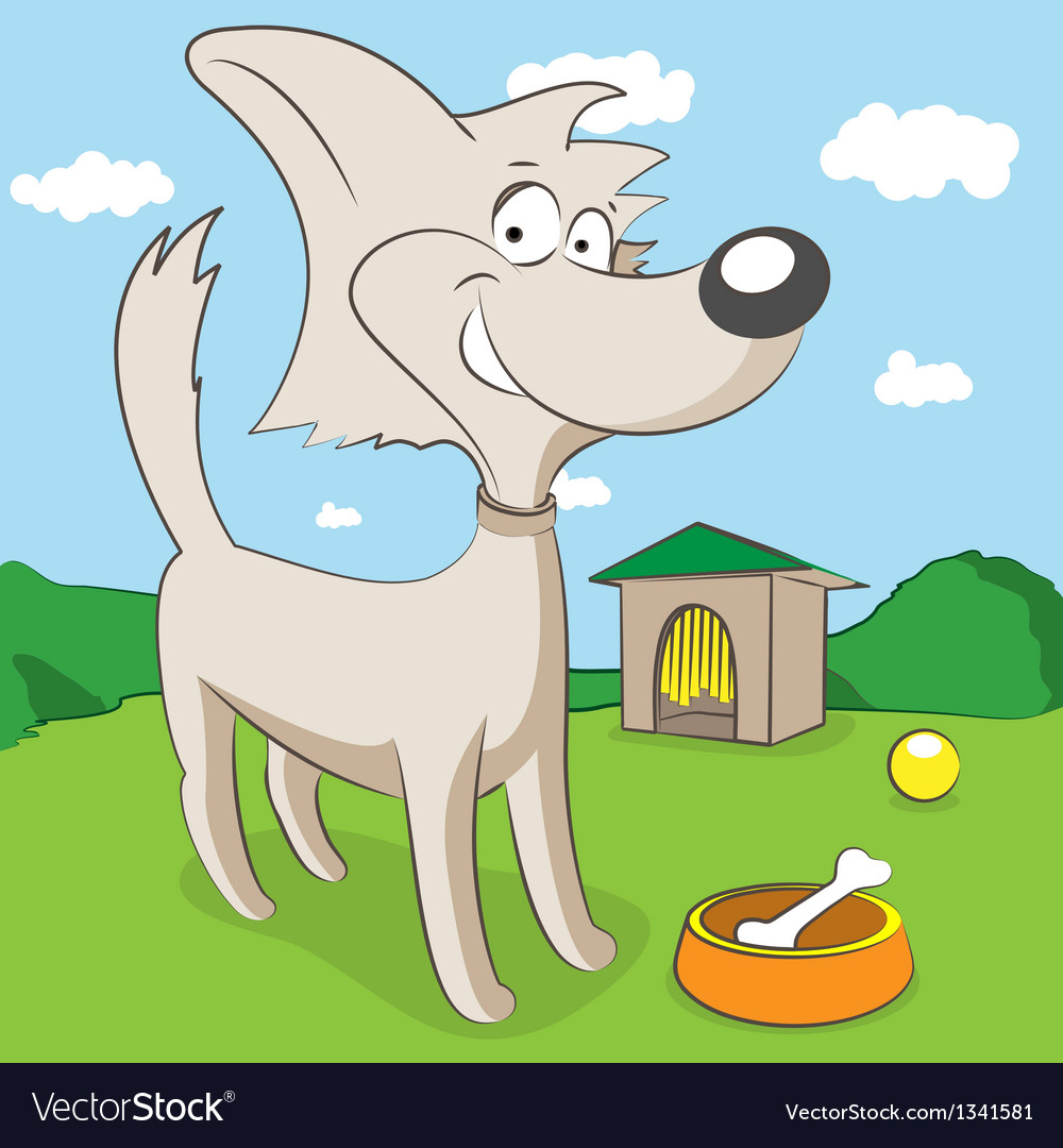 Cheerful dog vector | Price: 1 Credit (USD $1)