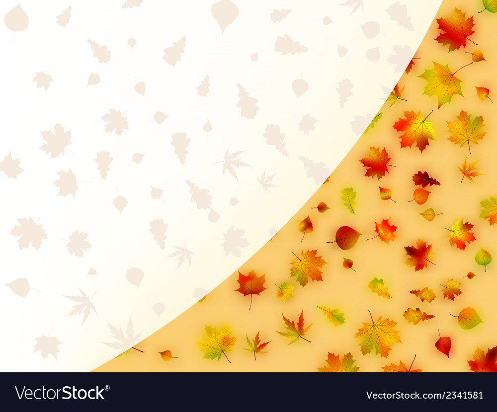Colorful autumn leaves card eps 8 vector | Price: 1 Credit (USD $1)