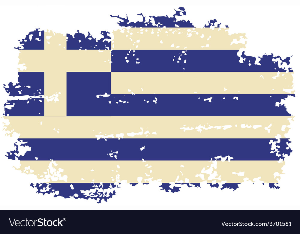 Greek grunge flag vector   Price: 1 Credit (USD $1)