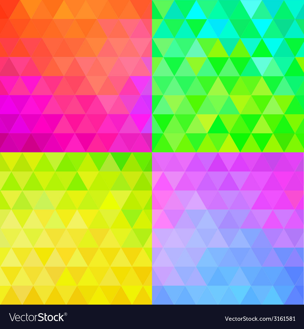 Set of colorful geometric patterns vector | Price: 1 Credit (USD $1)