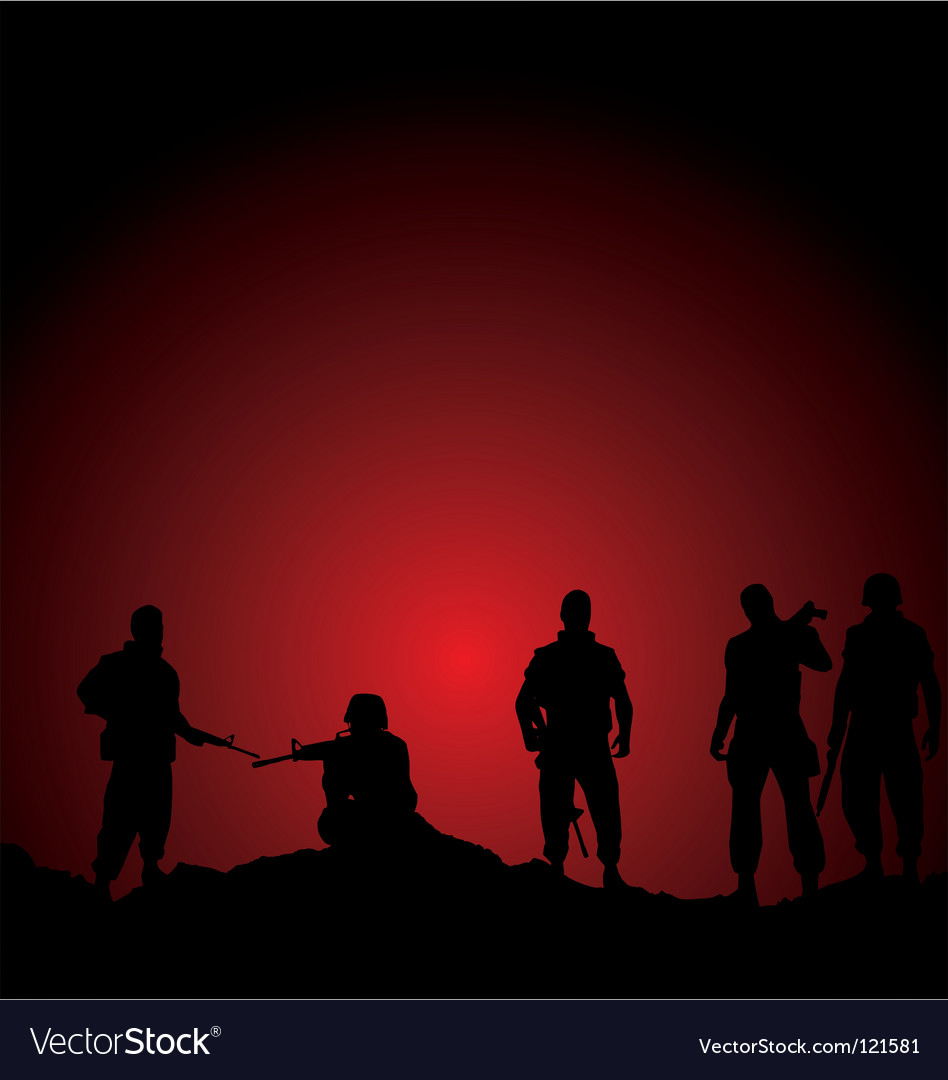Soldiers vector | Price: 1 Credit (USD $1)