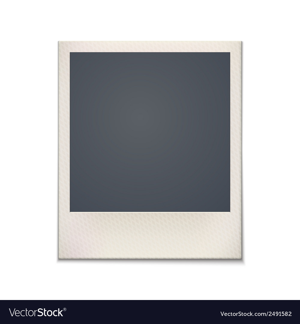 Blank retro photo frame vintage vector | Price: 1 Credit (USD $1)