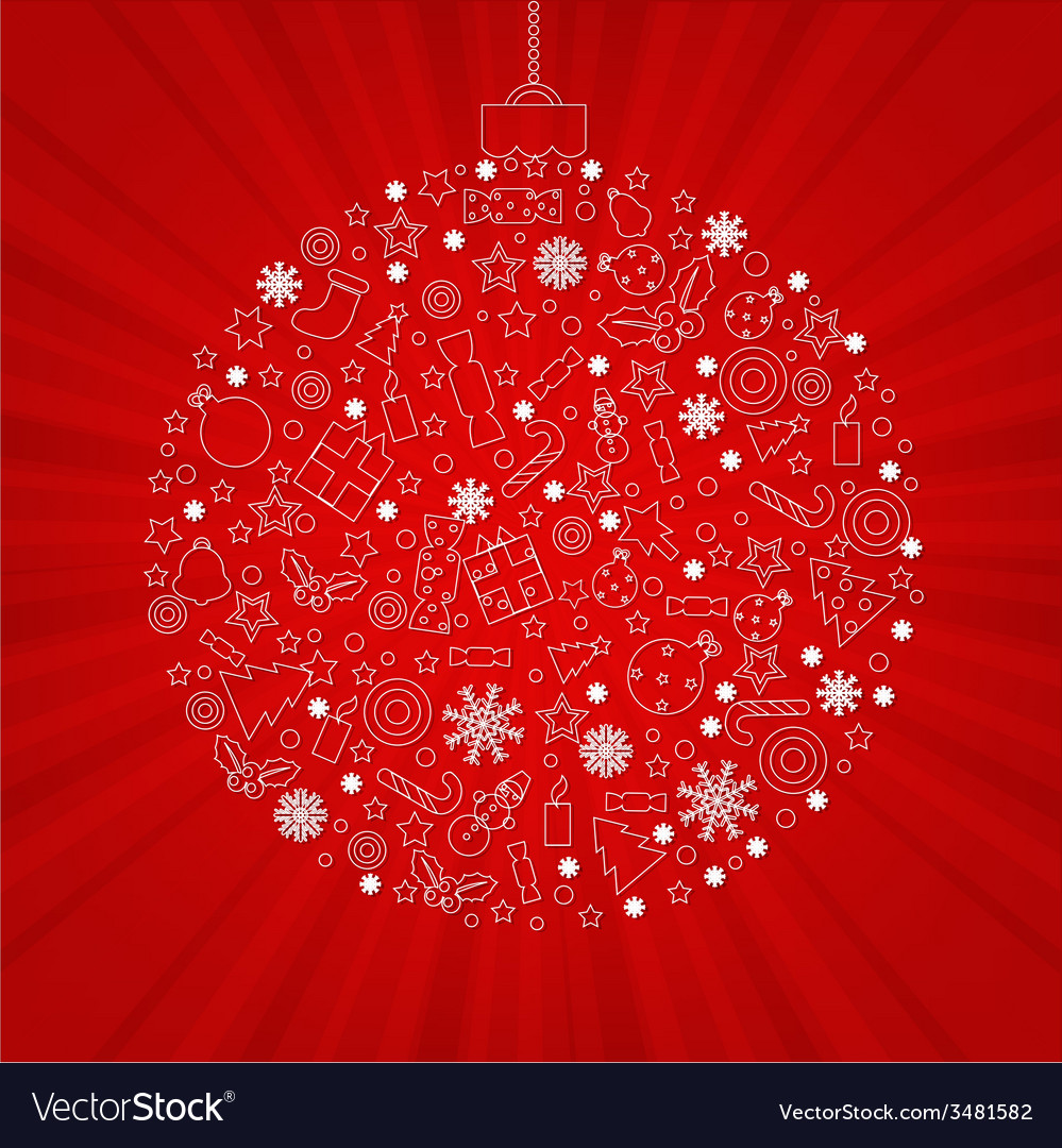 Christmas discount poster vector | Price: 1 Credit (USD $1)