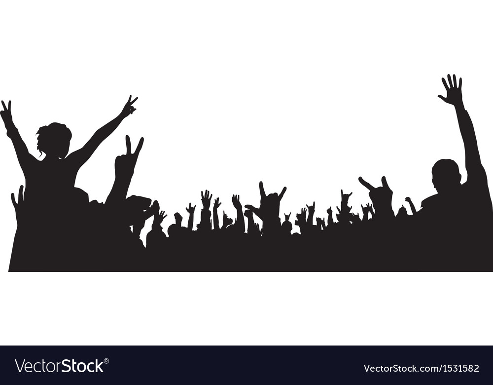 Concert crowd silhouette vector | Price: 1 Credit (USD $1)