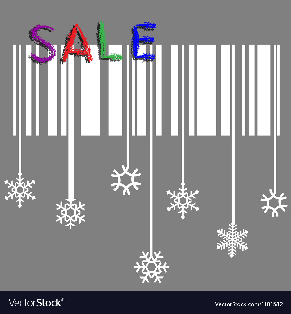 Creative winter sale with stylized snowflake and vector | Price: 1 Credit (USD $1)