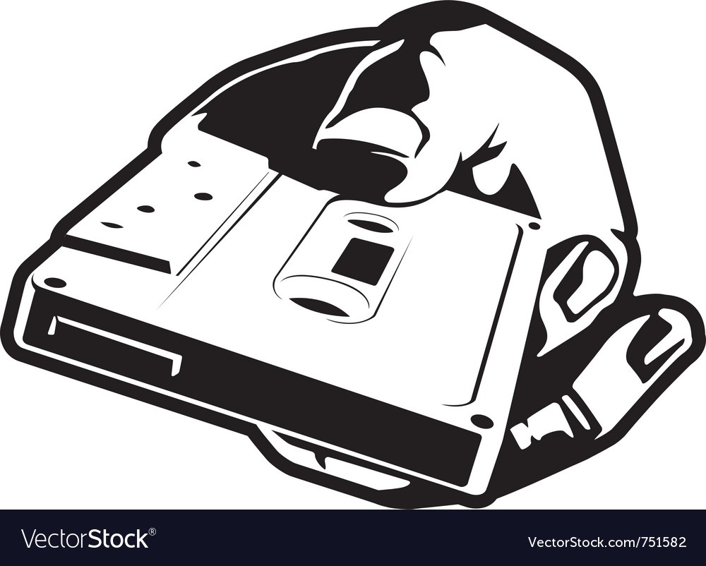 Hand with cassette vector | Price: 1 Credit (USD $1)