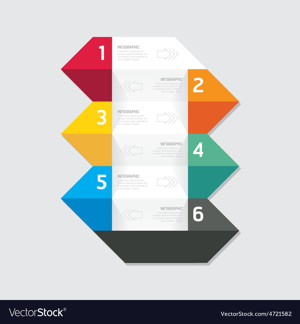 Modern infographics design options geometric banne vector | Price: 1 Credit (USD $1)