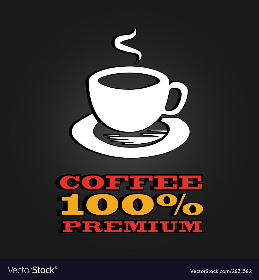 Premium coffee cup label concept menu poster vector   Price: 1 Credit (USD $1)