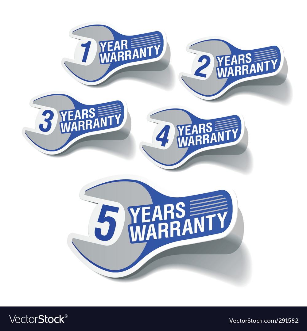 Warranty labels vector | Price: 1 Credit (USD $1)