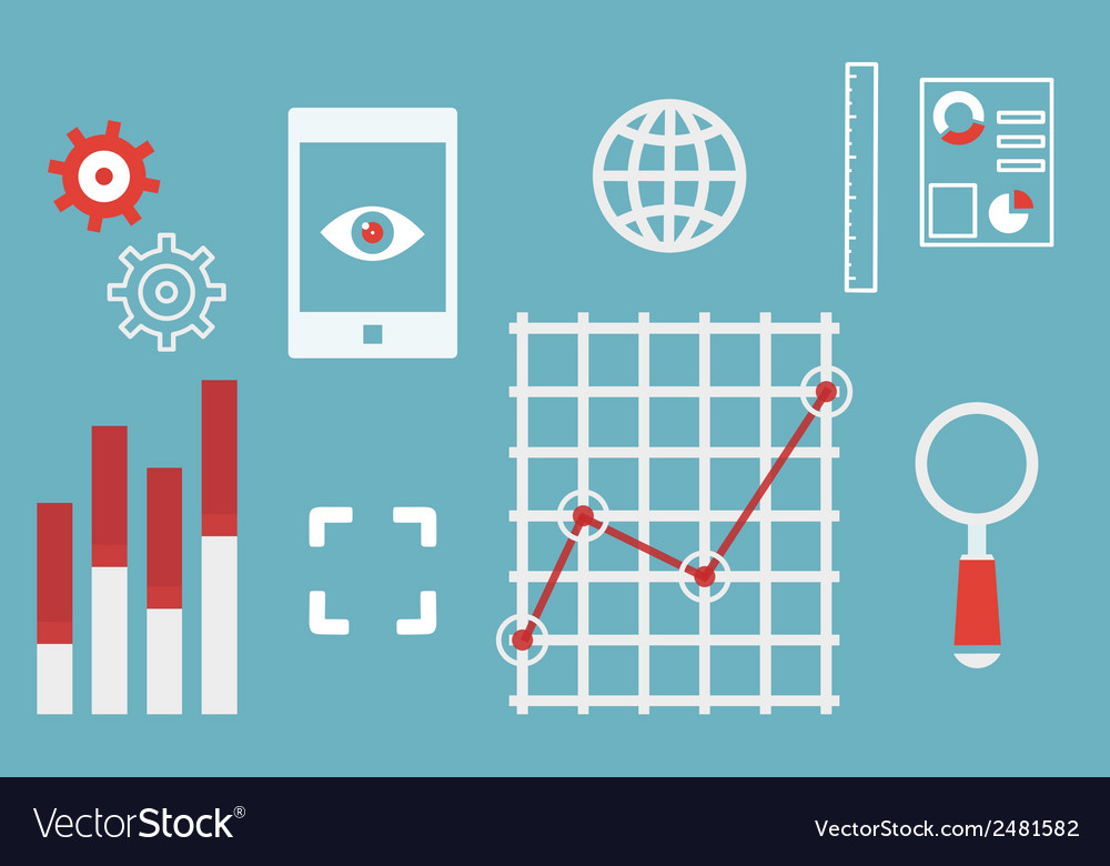 Web analytics information and development website vector | Price: 1 Credit (USD $1)