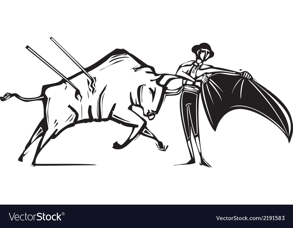 Bullfight vector | Price: 1 Credit (USD $1)