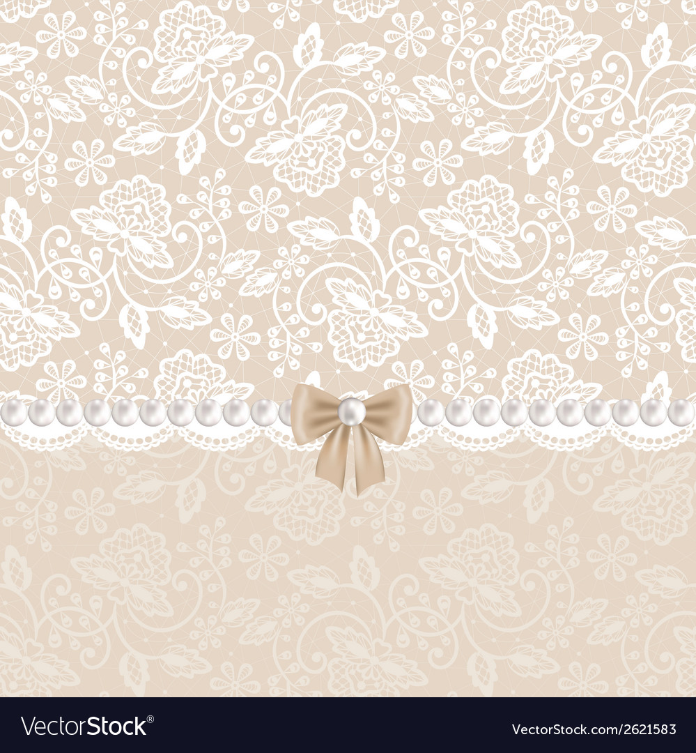 Card with white lace vector