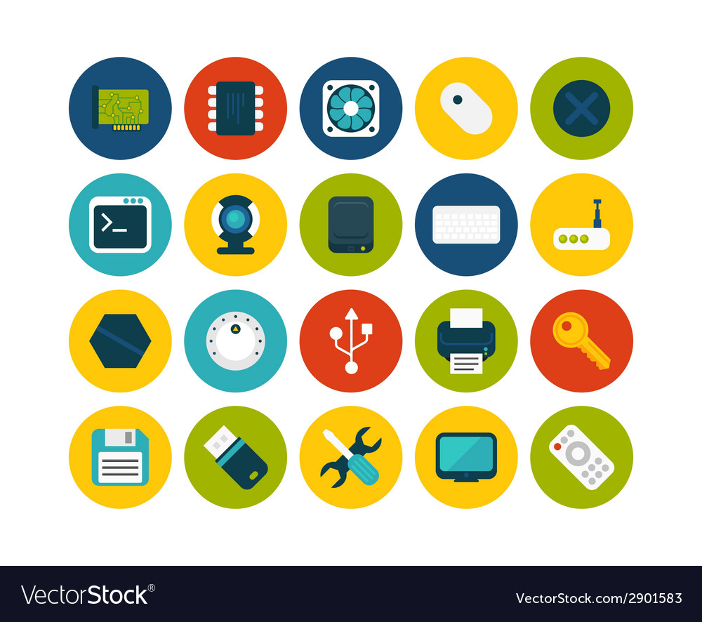 Flat icons set 13 vector | Price: 1 Credit (USD $1)