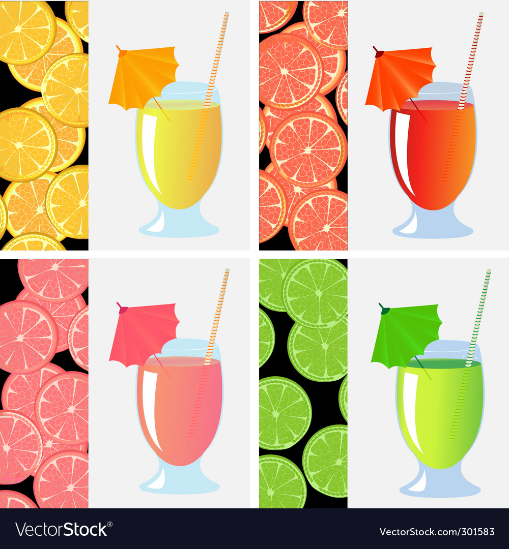 Fruit juices vector | Price: 1 Credit (USD $1)