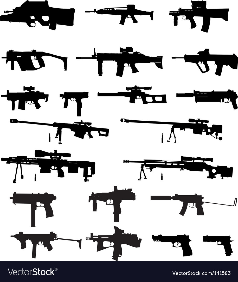 Guns vector | Price: 1 Credit (USD $1)