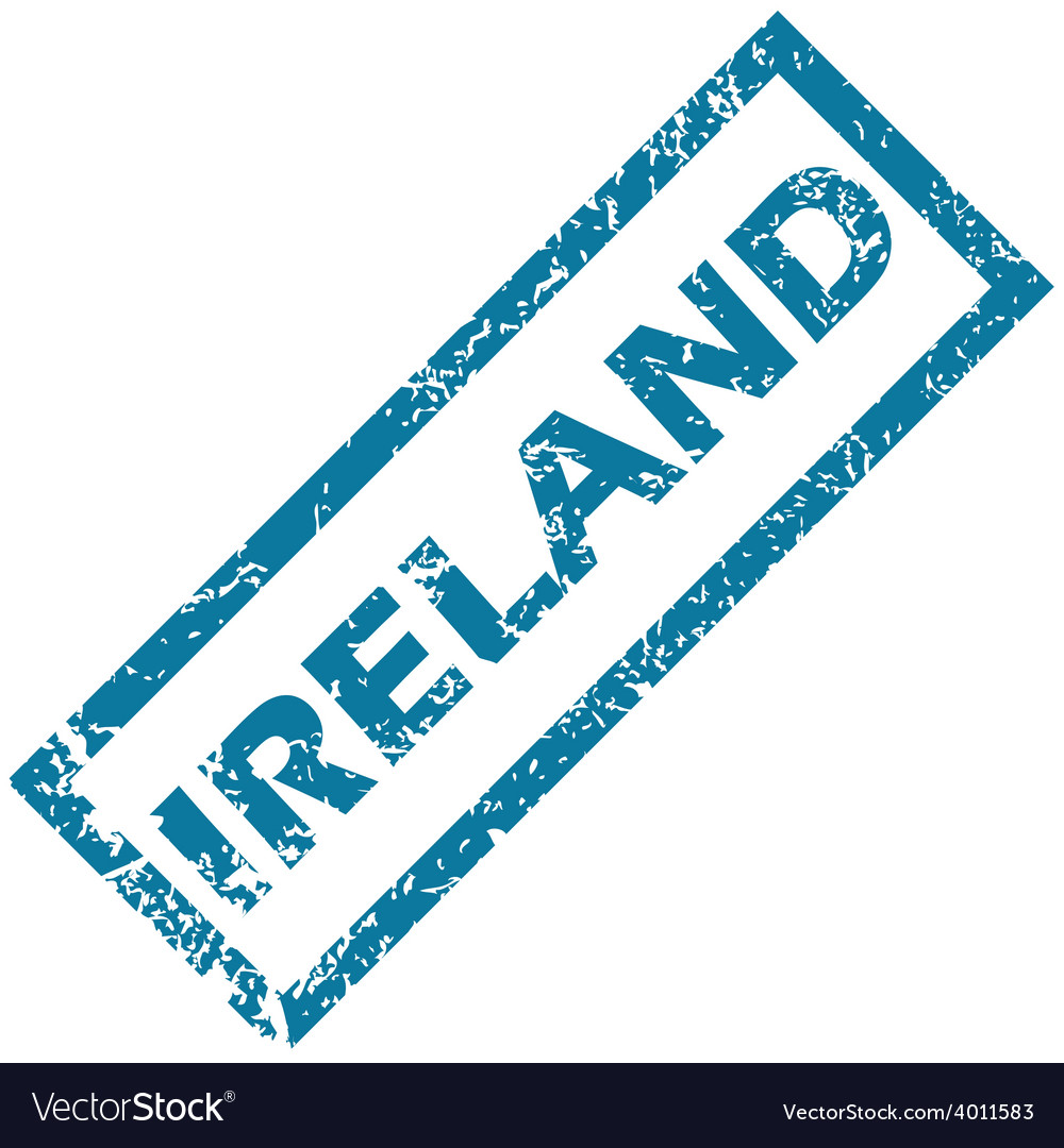 Ireland rubber stamp vector | Price: 1 Credit (USD $1)