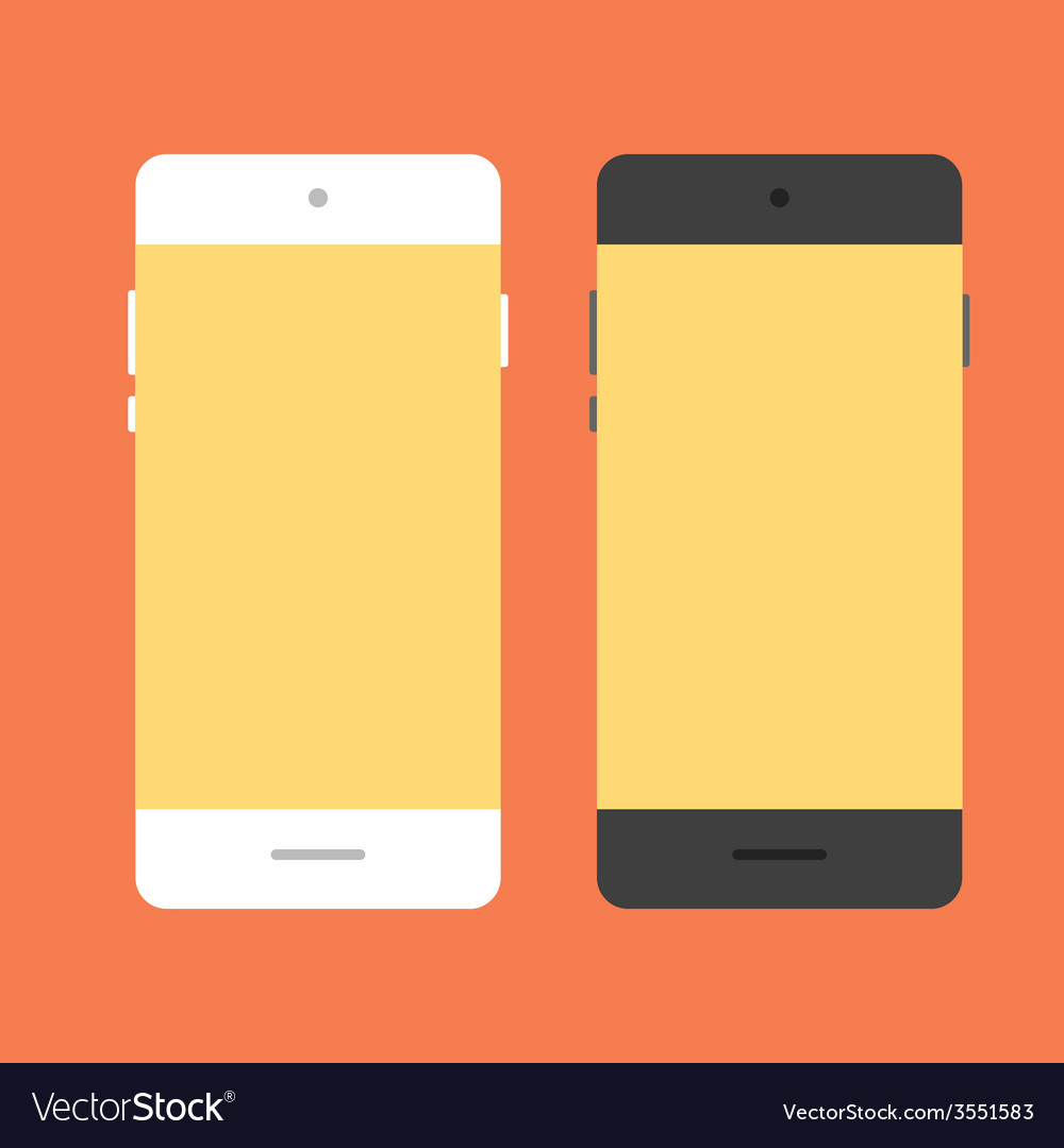 Mobile phone in flat style vector | Price: 1 Credit (USD $1)