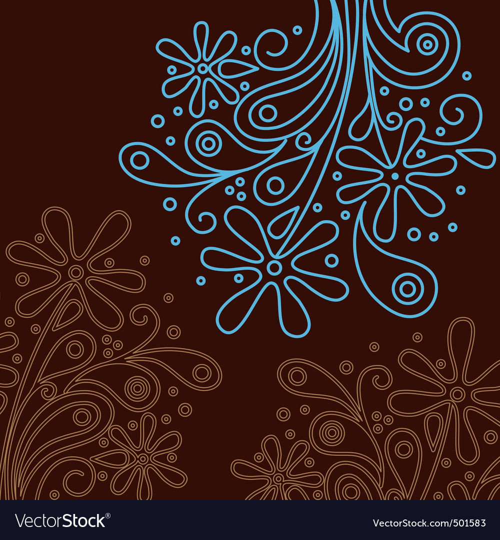 Modern floral background vector | Price: 1 Credit (USD $1)