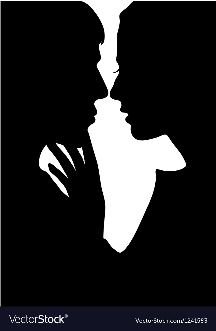 Silhouette lovers vector | Price: 1 Credit (USD $1)