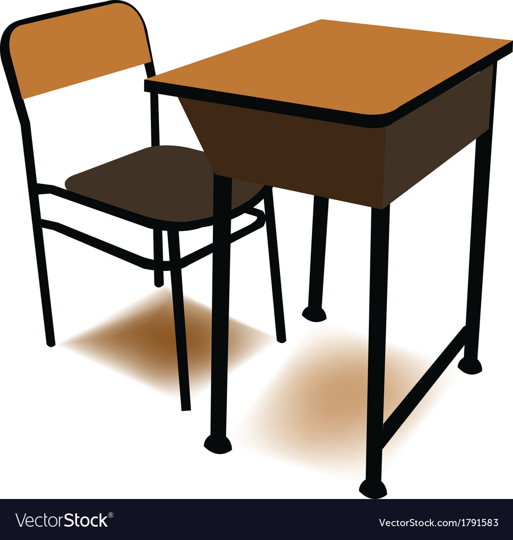 Student chair used in the classroom with the stand vector | Price: 1 Credit (USD $1)
