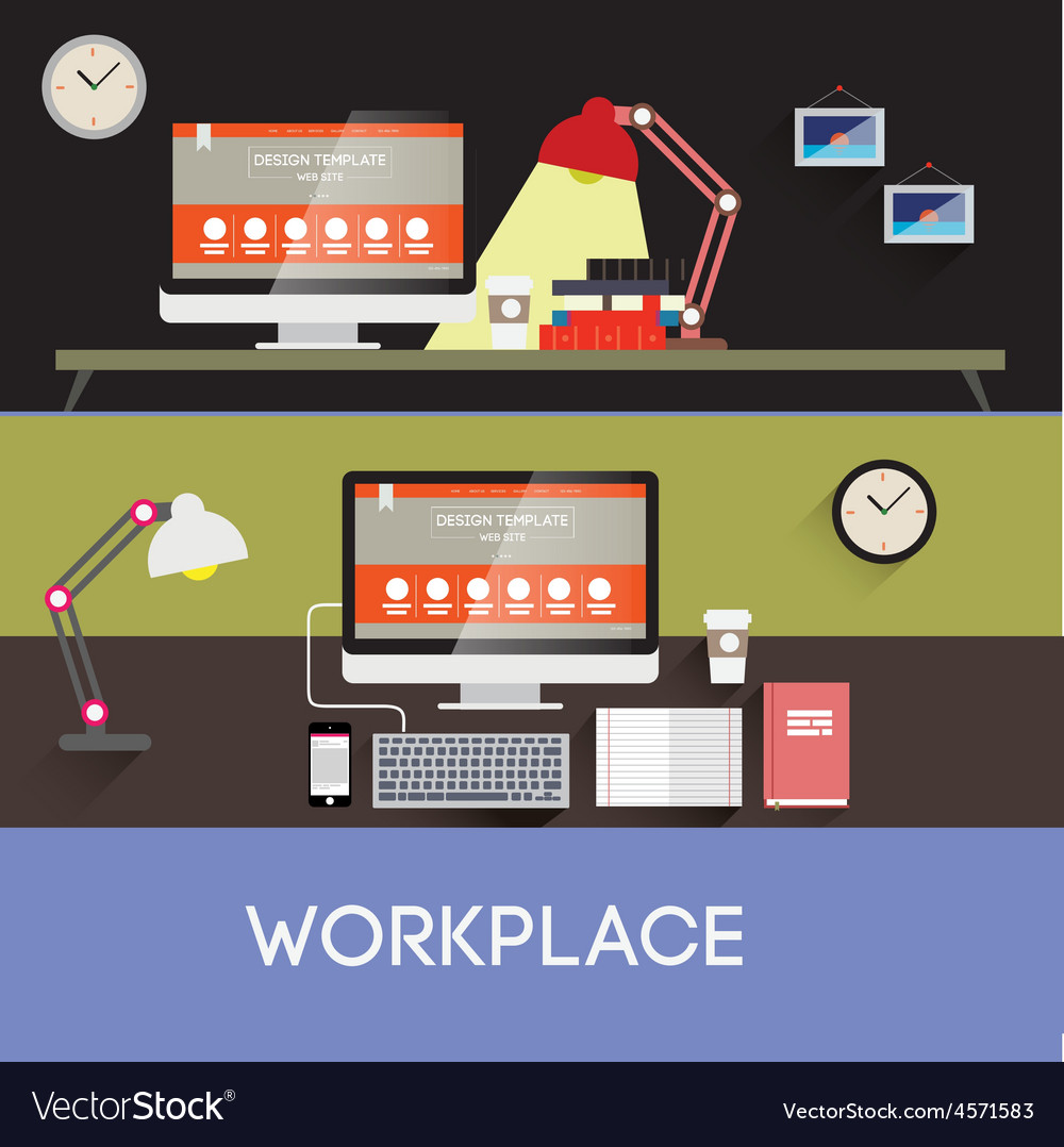 Workplace design vector   Price: 1 Credit (USD $1)