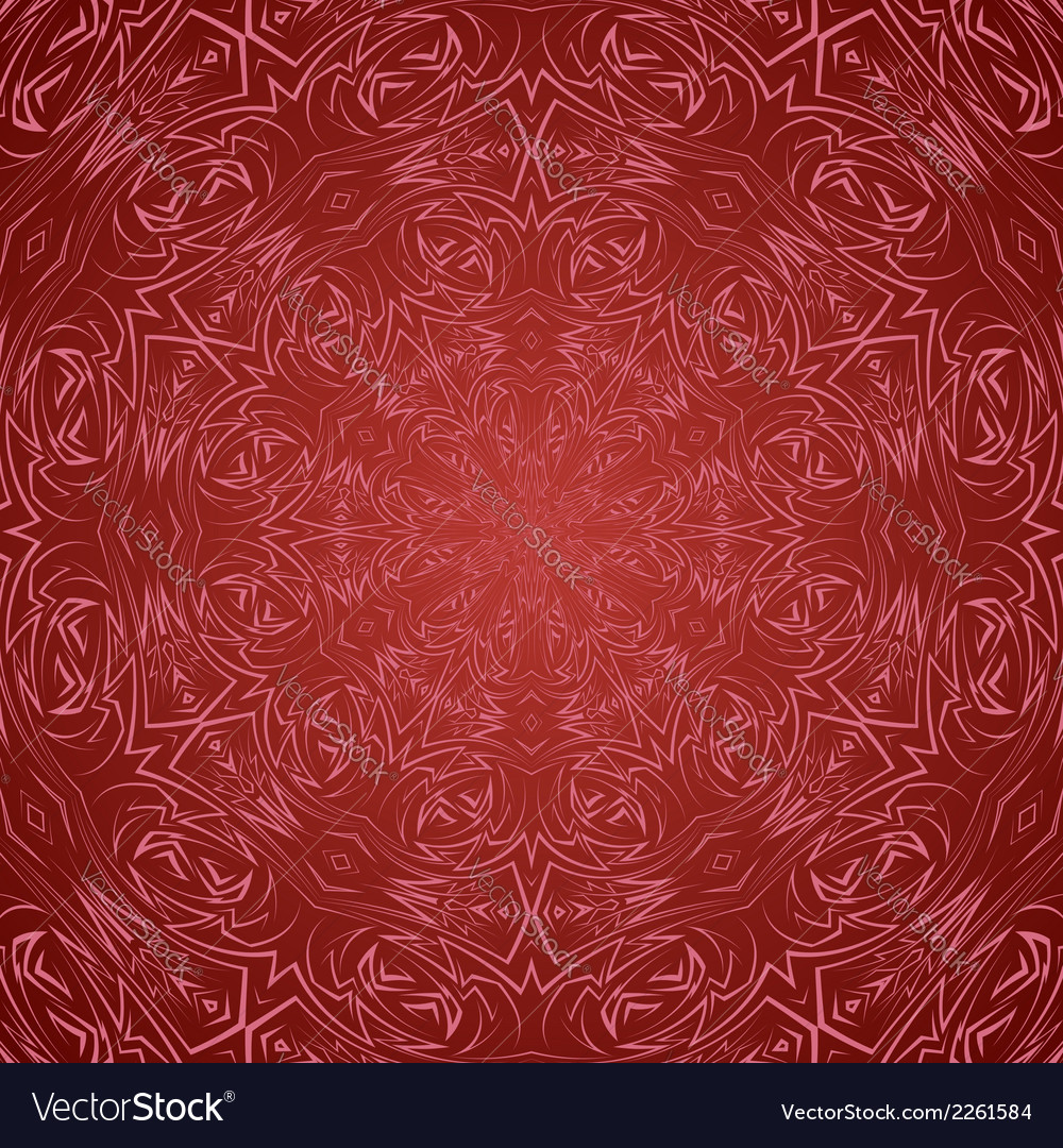 Abstract seamless pattern in red vector | Price: 1 Credit (USD $1)