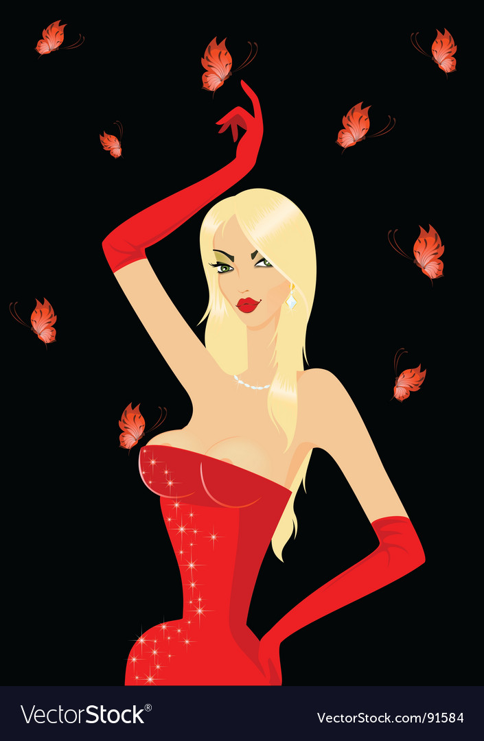 Blond diva vector | Price: 3 Credit (USD $3)