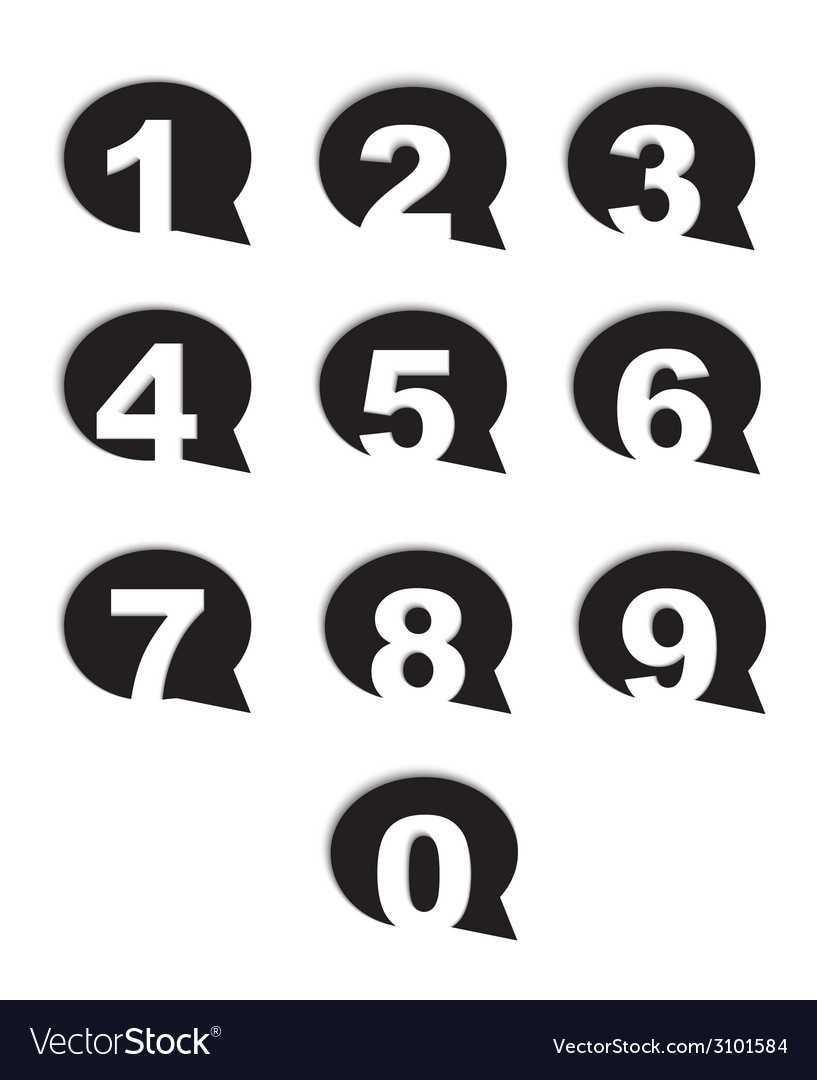 Bubble conversation numbers icons set vector   Price: 1 Credit (USD $1)