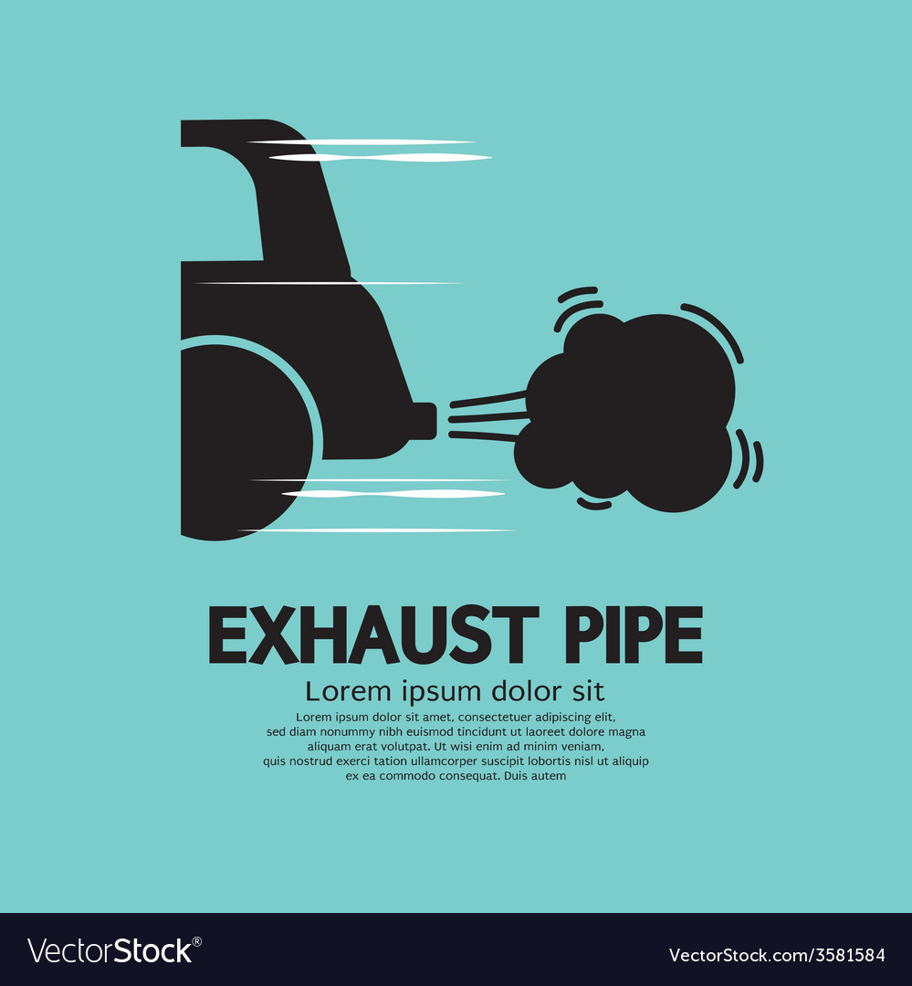 Cars exhaust pipe vector | Price: 1 Credit (USD $1)