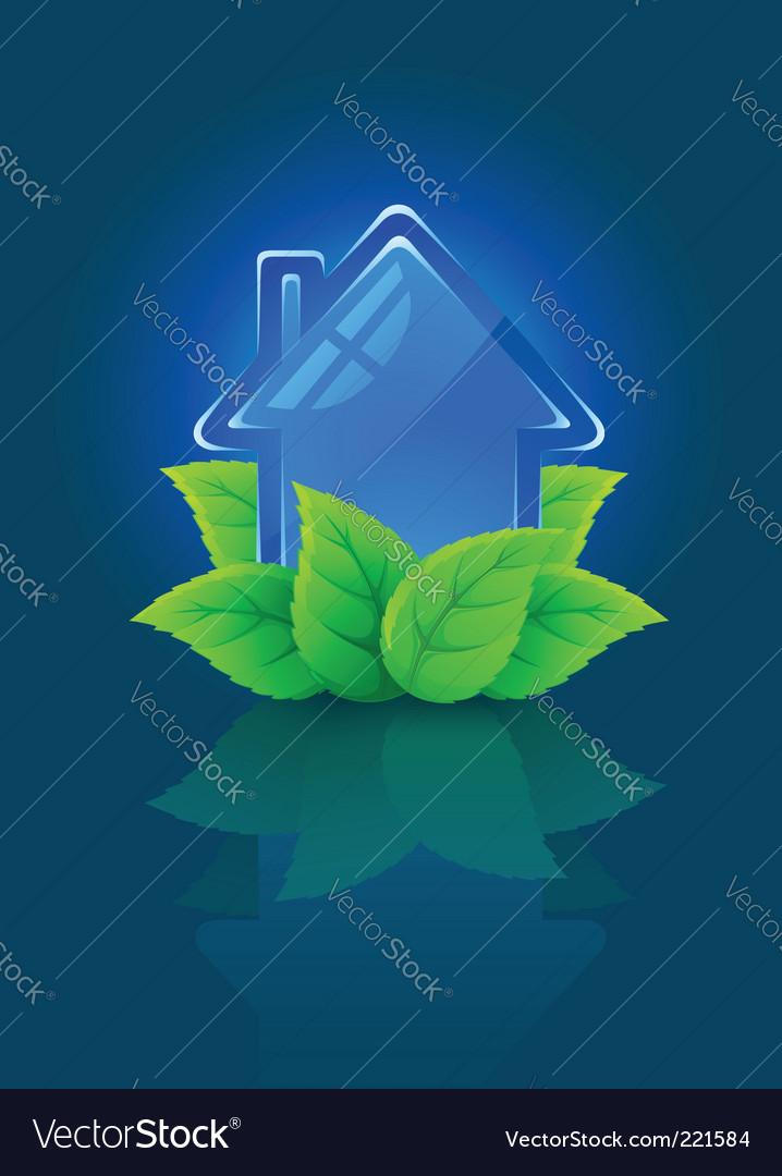 Eco house symbol vector | Price: 1 Credit (USD $1)