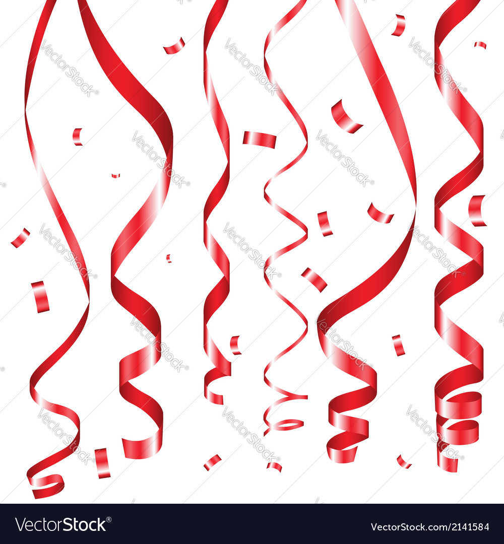 Holiday serpentine ribbons set vector | Price: 1 Credit (USD $1)