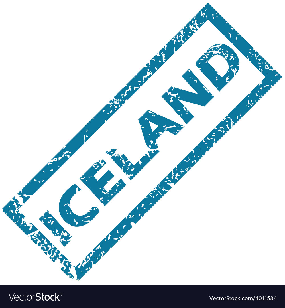Iceland rubber stamp vector | Price: 1 Credit (USD $1)