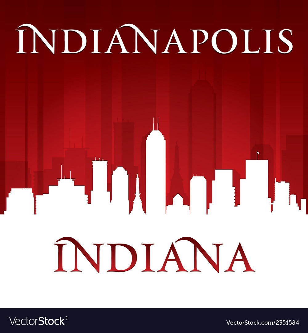 Indianapolis indiana city skyline silhouette vector | Price: 1 Credit (USD $1)