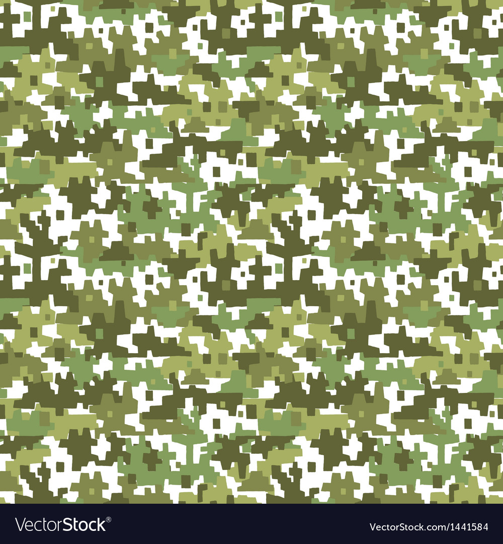 Military camouflage - seamless background vector | Price: 1 Credit (USD $1)
