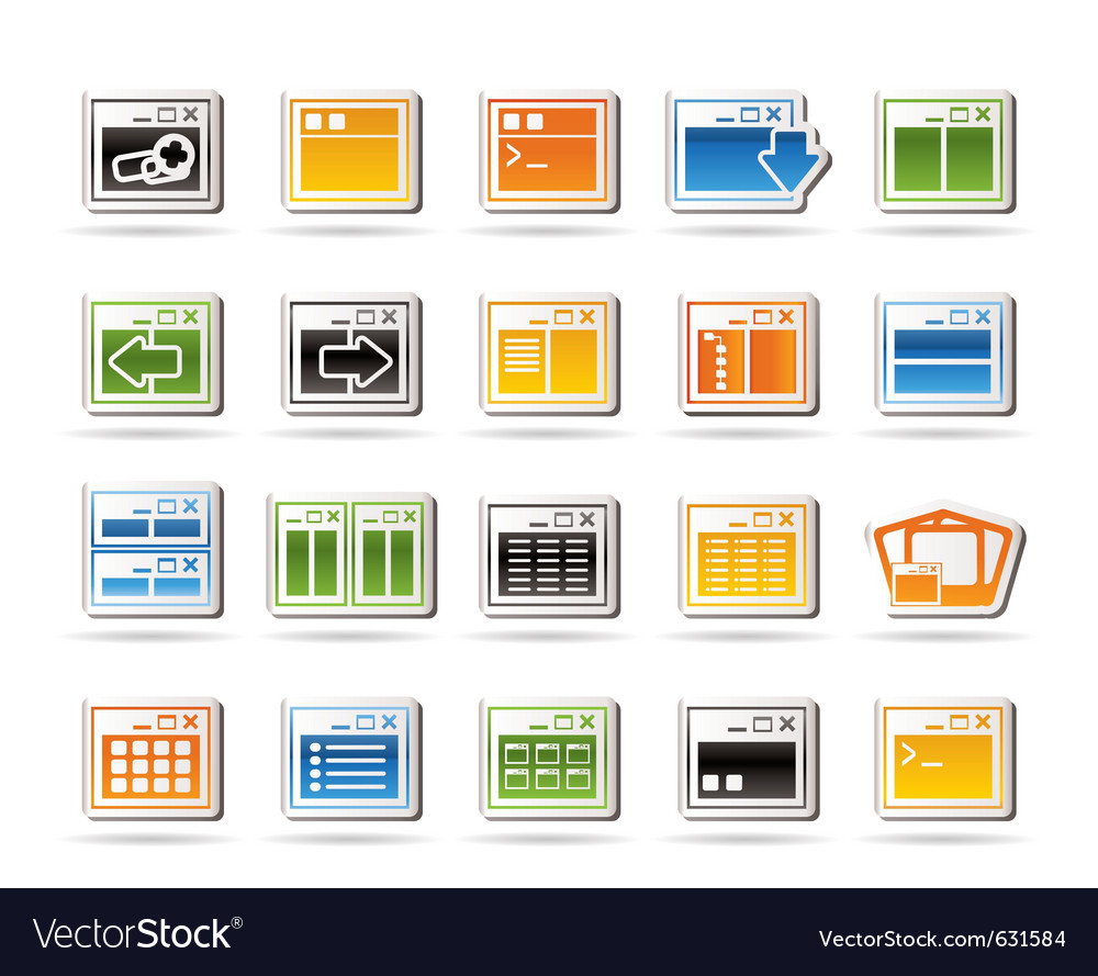 Programming and computer icons vector | Price: 1 Credit (USD $1)