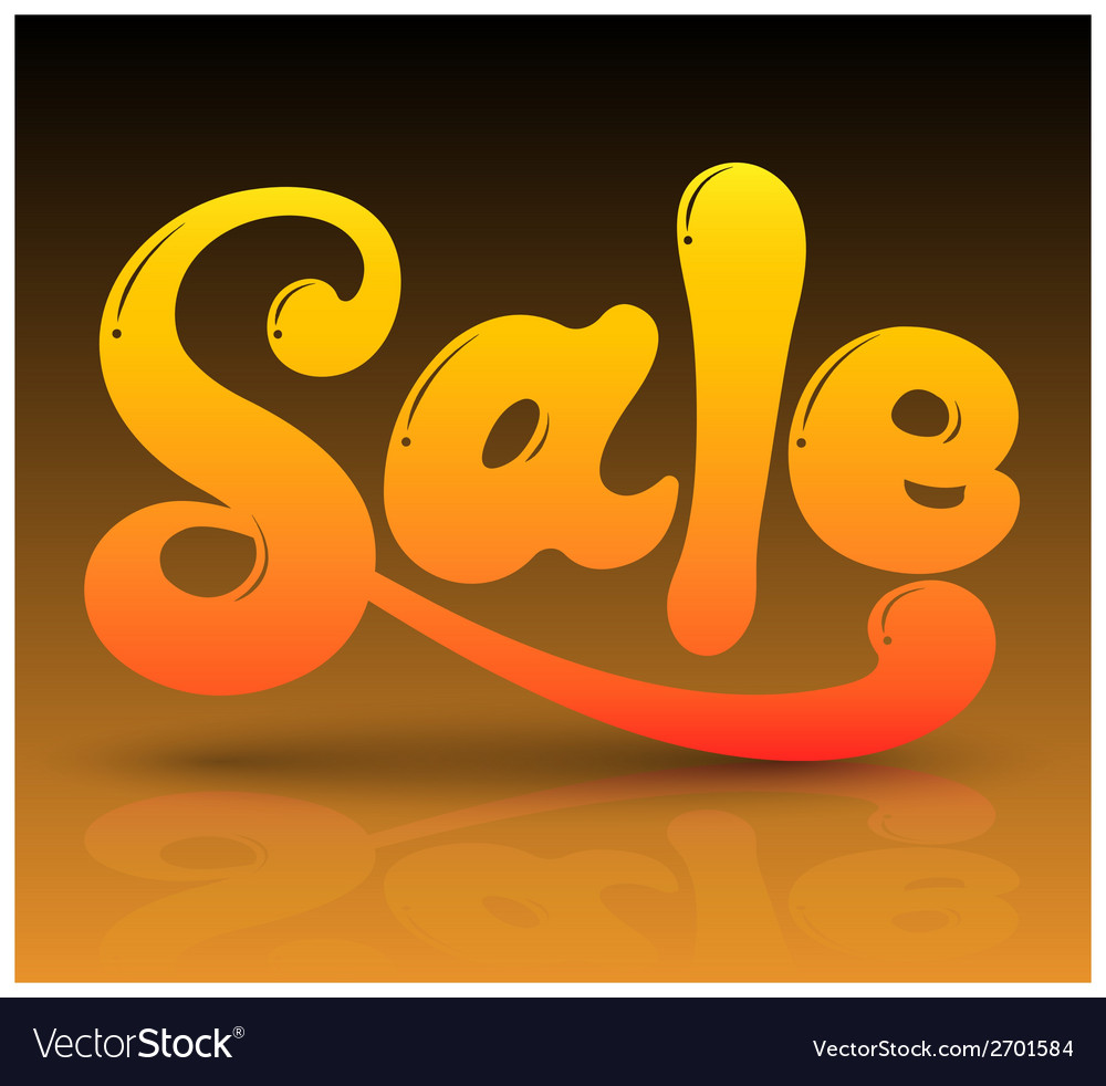 Sale text vector | Price: 1 Credit (USD $1)