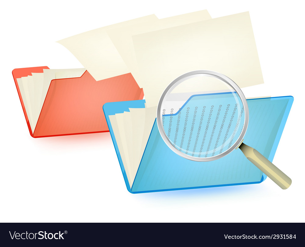 Searching and moving files vector | Price: 1 Credit (USD $1)