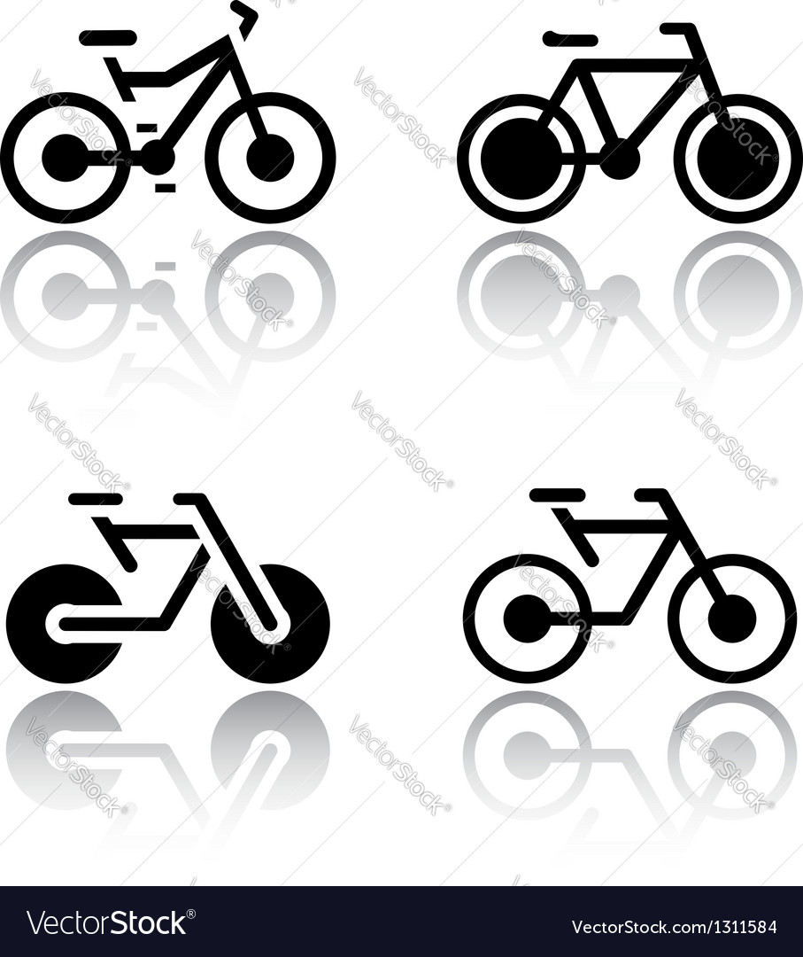 Set of transport icons - bikes vector | Price: 1 Credit (USD $1)