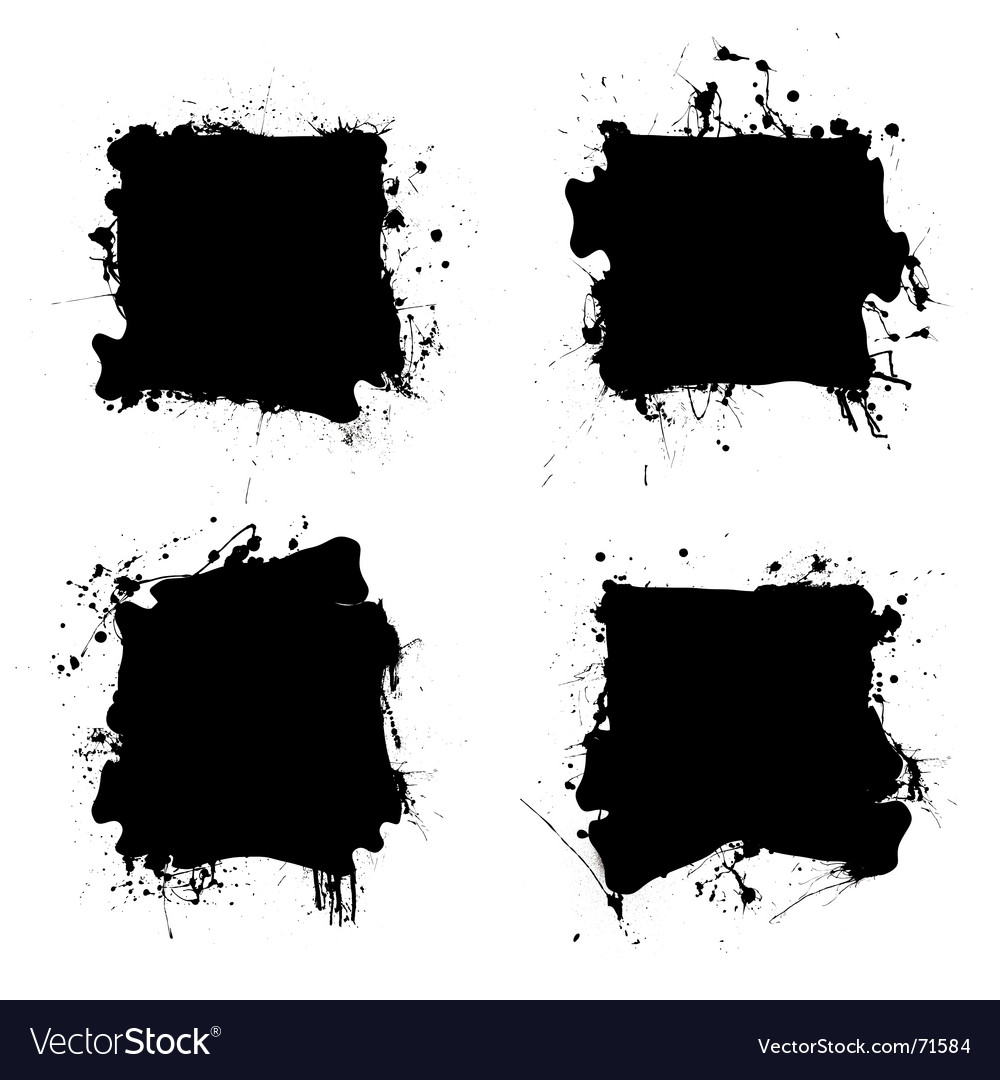 Square black ink splat vector | Price: 1 Credit (USD $1)